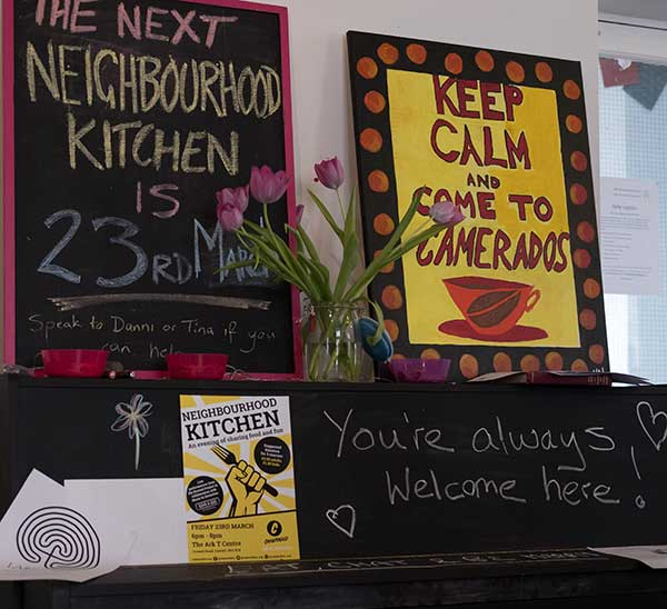 Neighbourhood Kitchen events launch, coming together over food is a great way to mix with people who don't look like you!