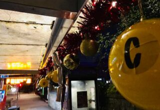 Decorated bus stops all over the world for Christmas, trying to make Christmas less crappy for some folk.